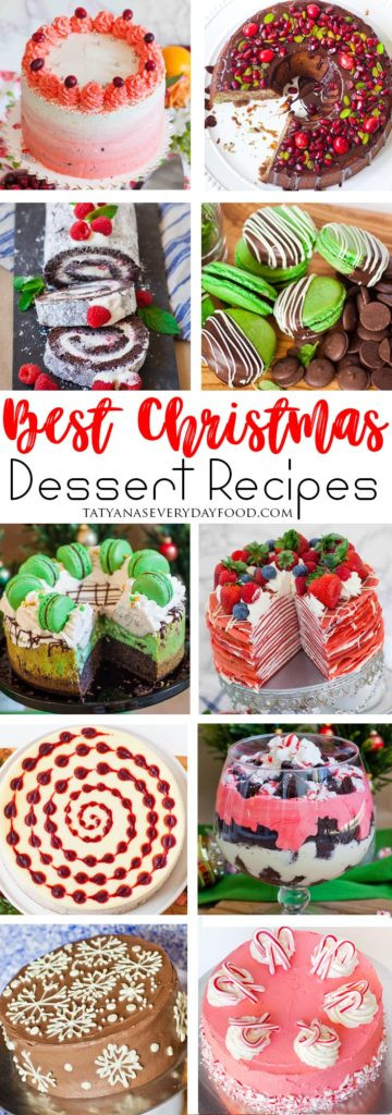 Popular Christmas Desserts  Christmas Desserts Recipe Roundup Tatyanas Everyday Food