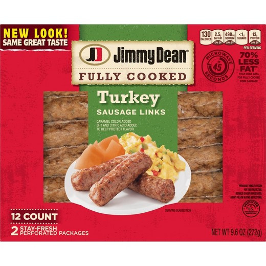 Pre Cooked Thanksgiving Turkey  Jimmy Dean Fully Cooked Turkey Sausage Links 12ct 9 6oz