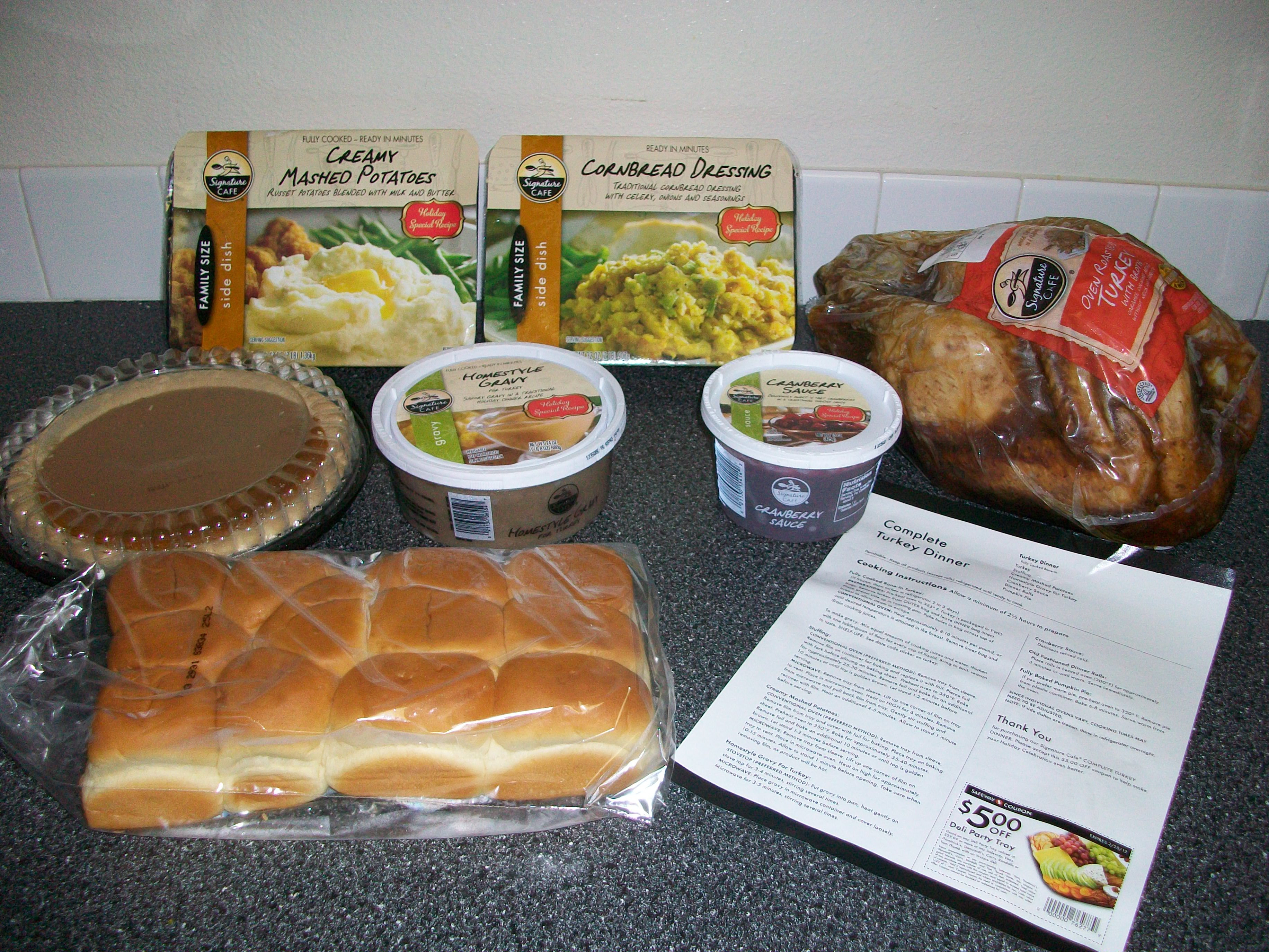 Pre Made Thanksgiving Dinner  Safeway $39 99 Turkey Dinner Review