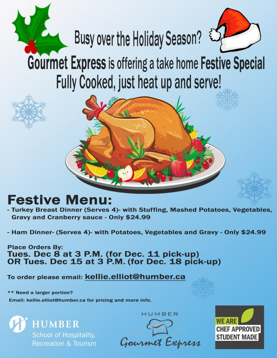 Precooked Thanksgiving Dinner  Order Pre Cooked Holiday Meals from Gourmet Express