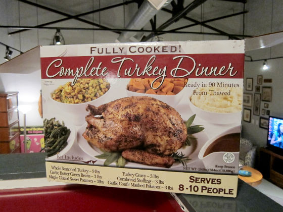 Precooked Thanksgiving Dinner  Thanksgiving for the supremely lazy The $80 box of frozen