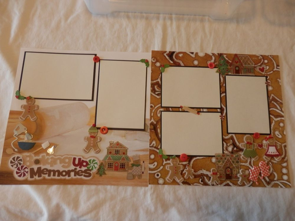 Premade Christmas Cookies  12x12 premade scrapbook layout Baking holiday Christmas