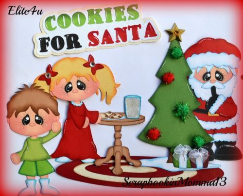 Premade Christmas Cookies  Elite4u Christmas Cookies Premade Scrapbook Page Layout