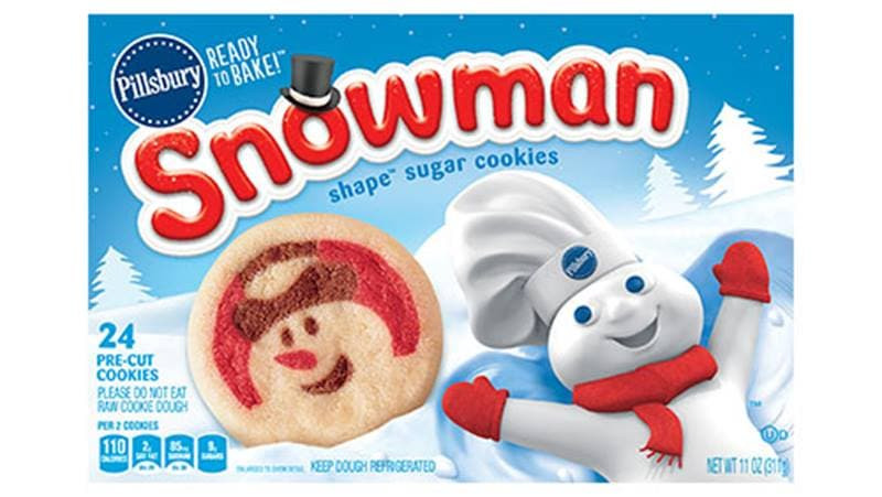 Premade Christmas Cookies  Pillsbury™ Shape™ Snowman Sugar Cookies Pillsbury