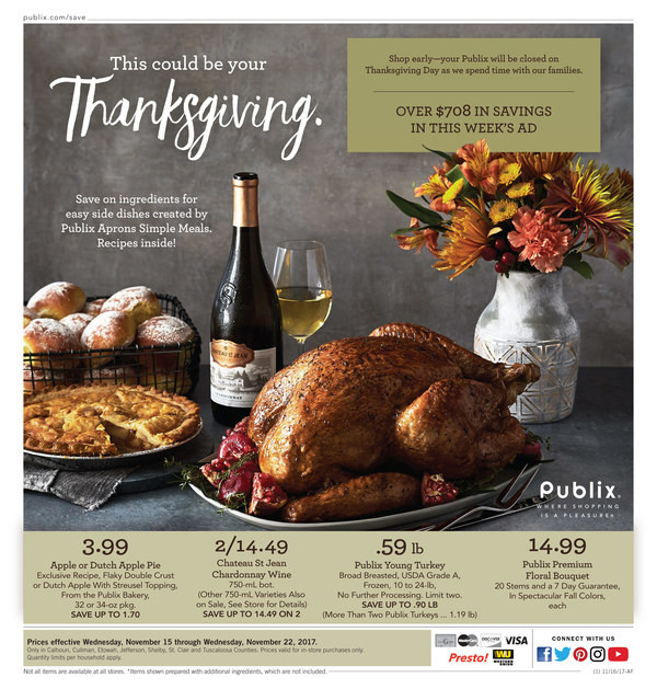 Publix Thanksgiving Dinner 2019  publix fresh seafood cook in bag dinners calories