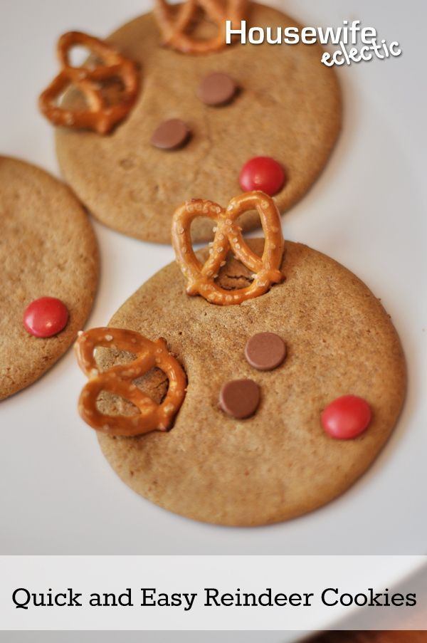 Quick And Easy Christmas Cookies  Quick and Easy Reindeer Cookies with Nestle Tollhouse