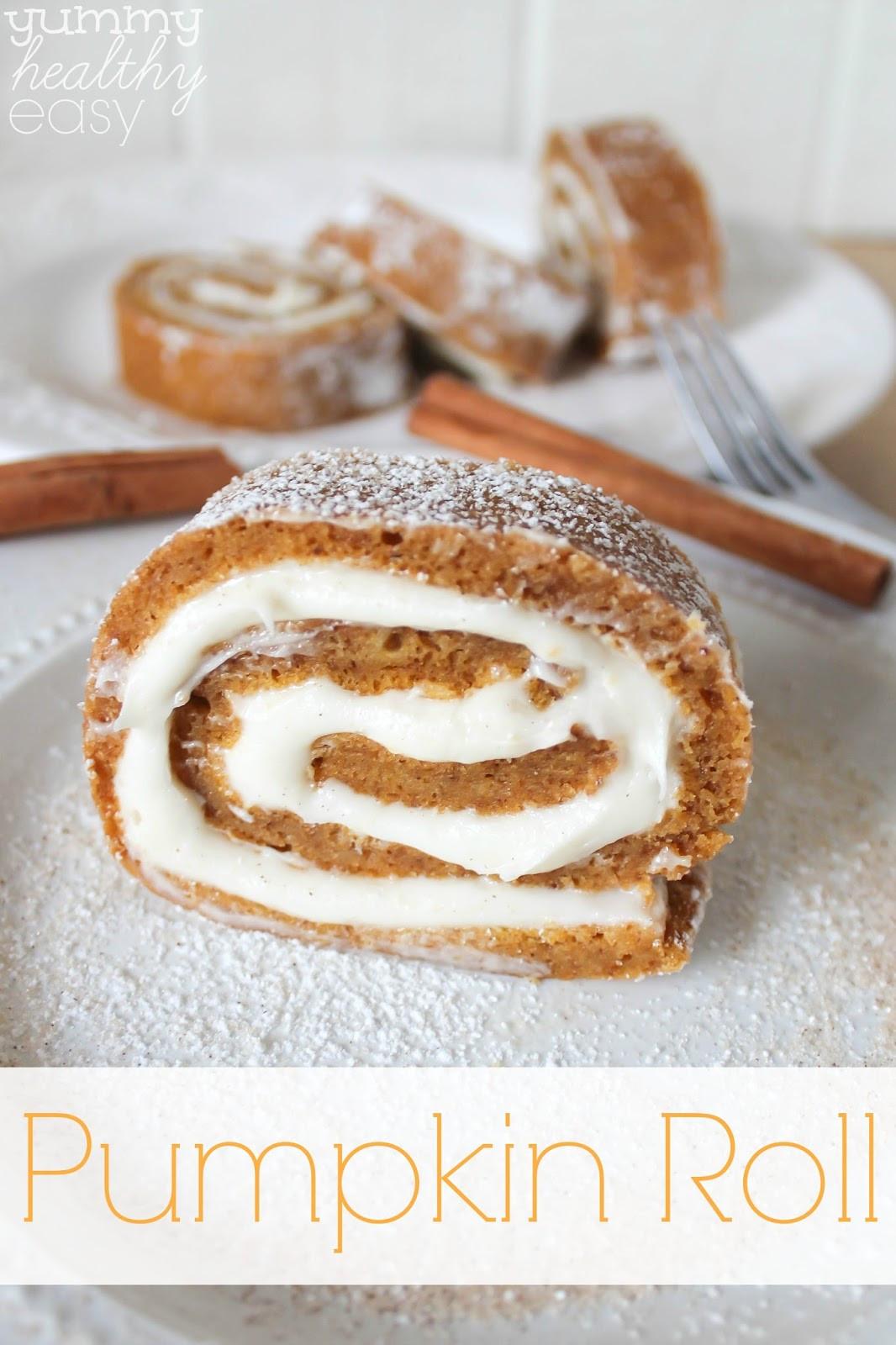 Quick Fall Desserts  Easy Pumpkin Roll Dessert Yummy Healthy Easy
