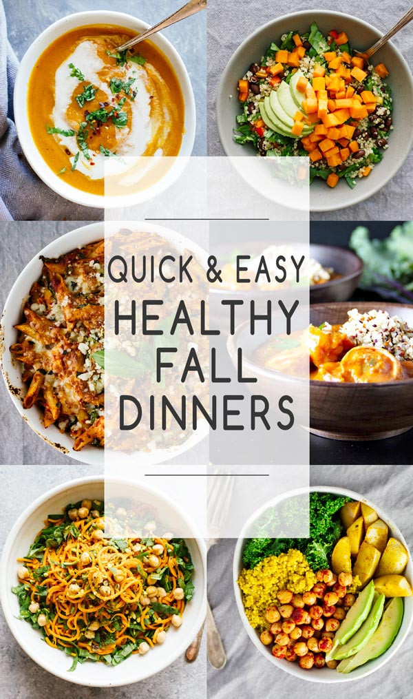 Quick Fall Dinners  Quick & Easy Healthy Fall Dinners Jar Lemons