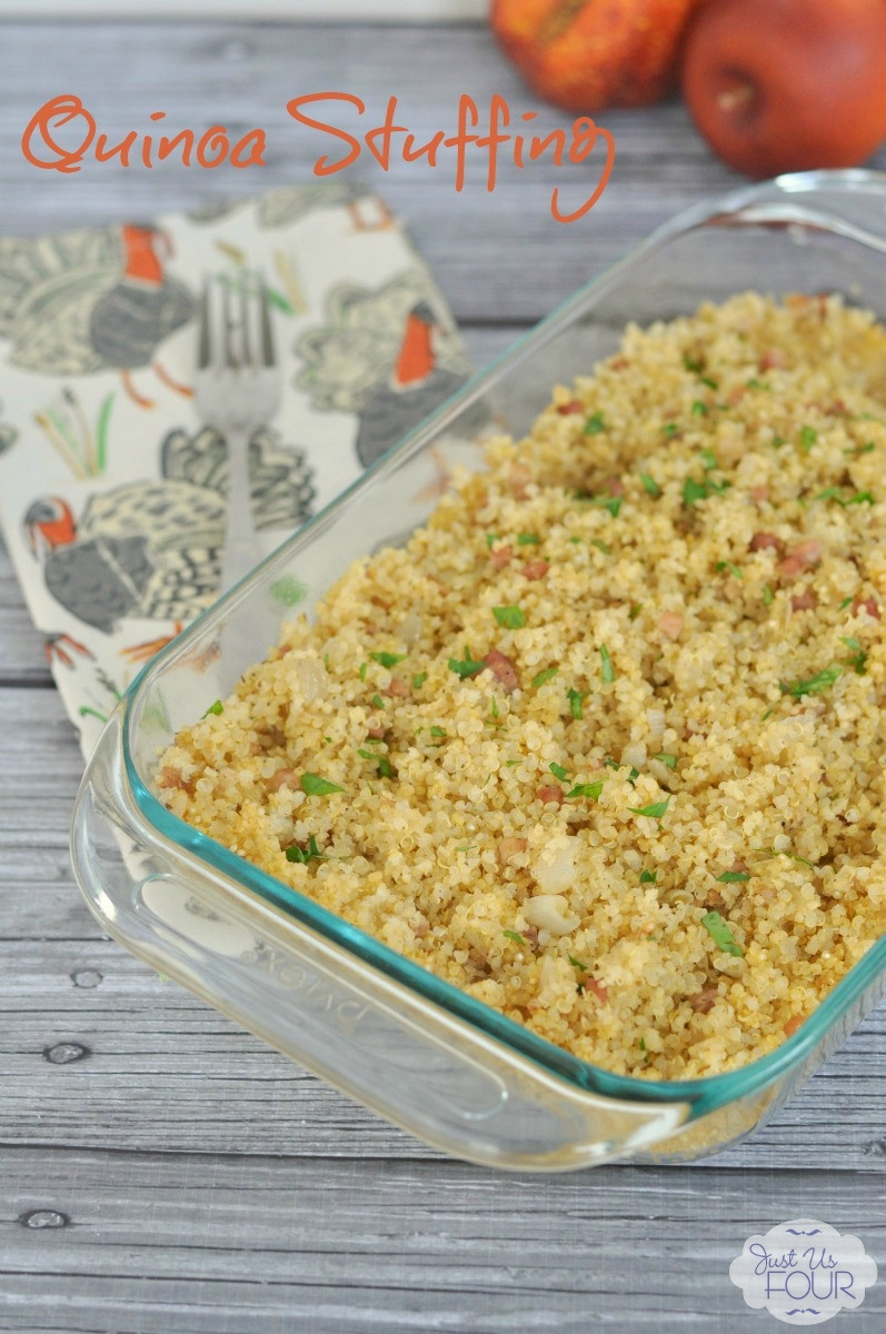 Quinoa Stuffing Thanksgiving  Thanksgiving Quinoa Stuffing with Pancetta My Suburban