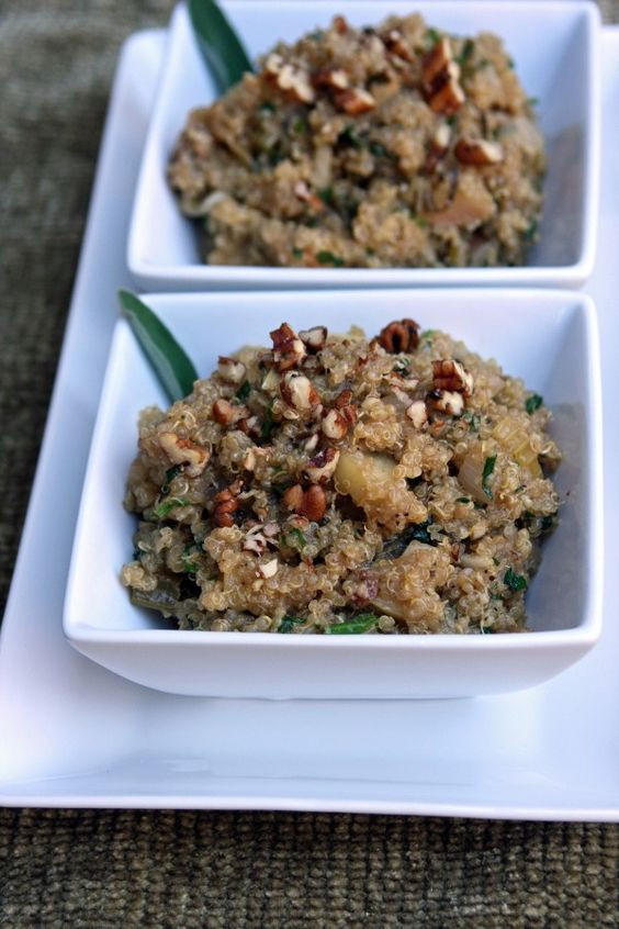 Quinoa Stuffing Thanksgiving  A gluten free alternative to Thanksgiving bread stuffing