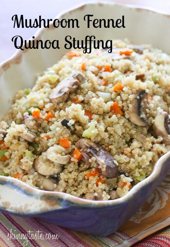 Quinoa Stuffing Thanksgiving  Mushroom Fennel Quinoa Stuffing