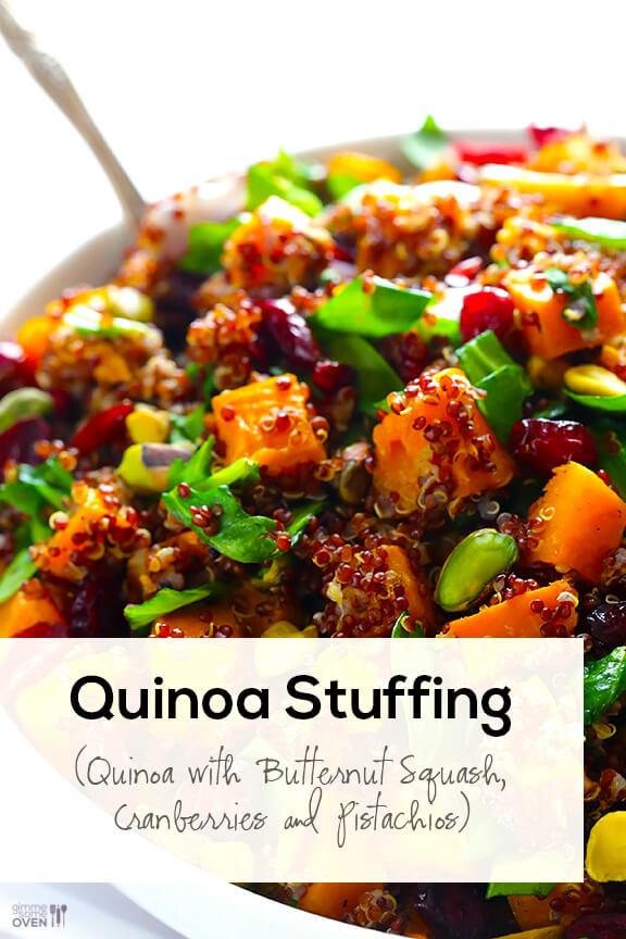 Quinoa Stuffing Thanksgiving  Quinoa Stuffing Butternut Squash Quinoa w Cranberries