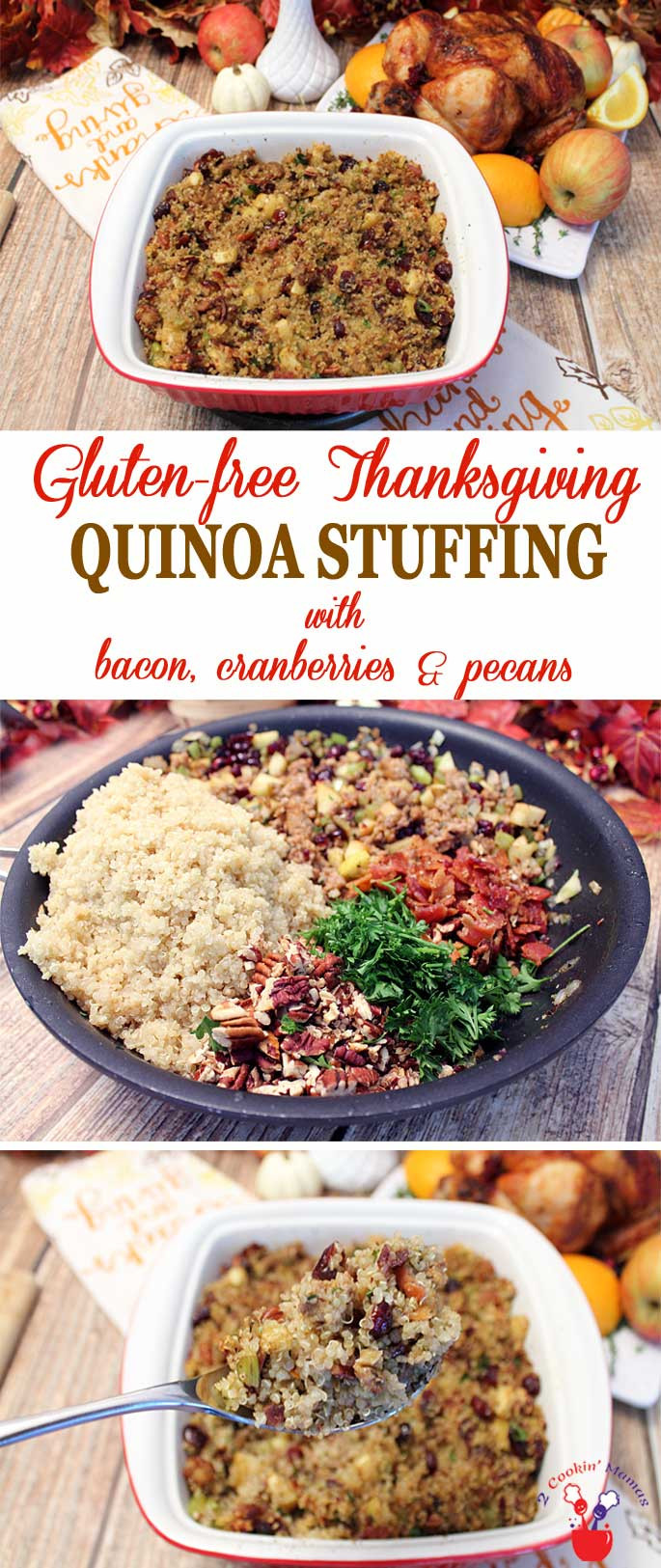 Quinoa Stuffing Thanksgiving  Thanksgiving Dinner with Gluten Free Quinoa Stuffing 2