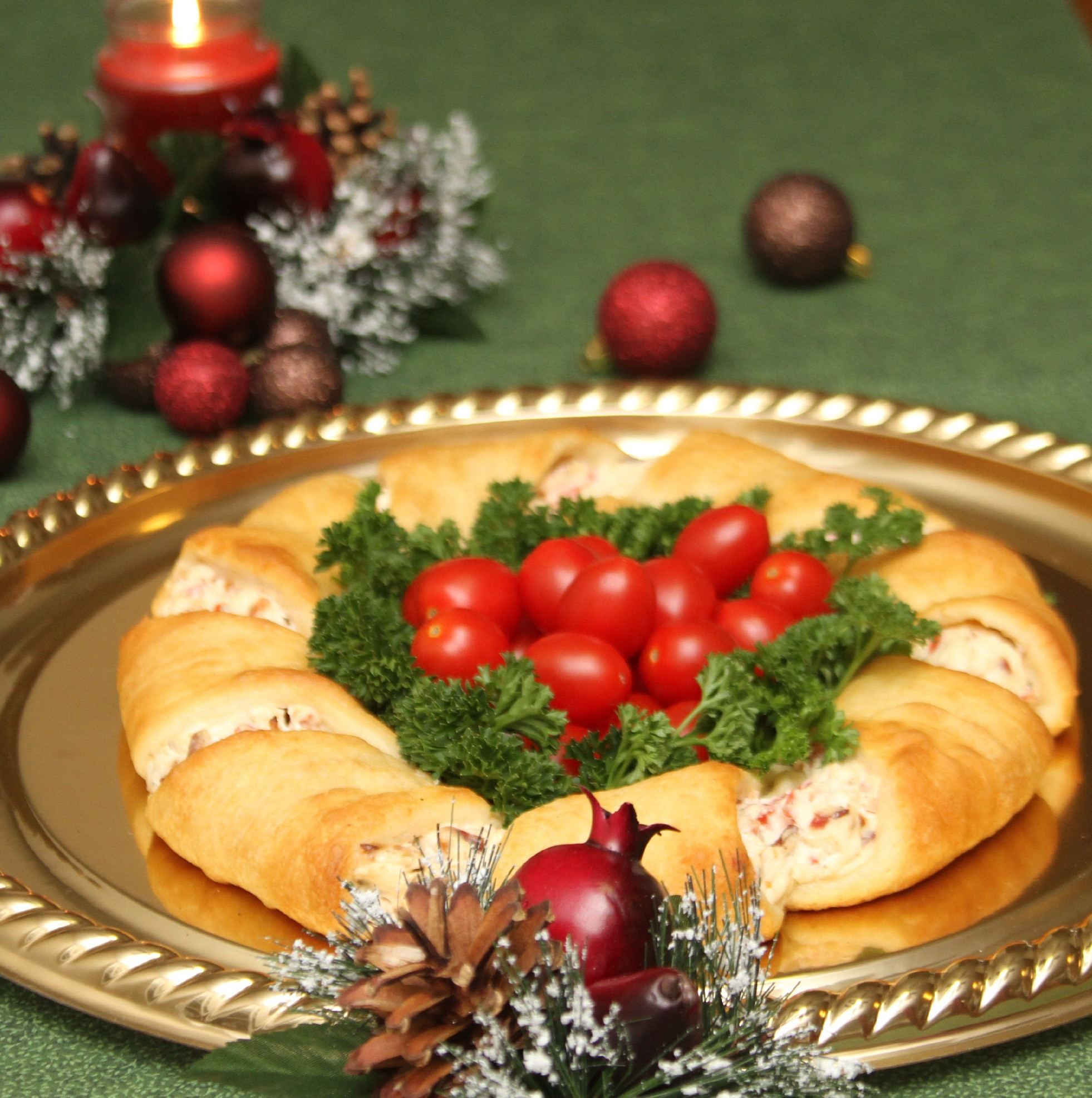 Recipe For Christmas Appetizers  Christmas Wreath Crescent Rolls Appetizer Recipes Just