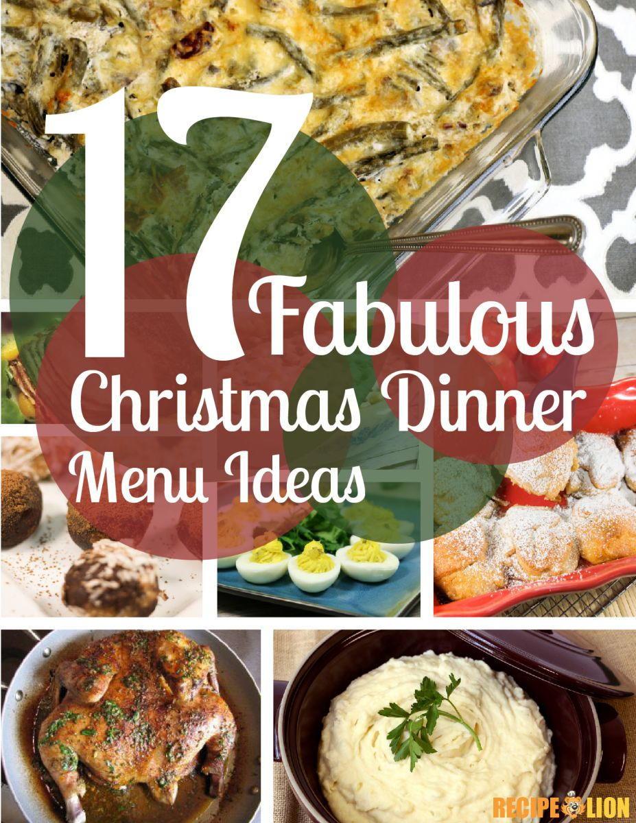 Recipe For Christmas Dinner  17 Fabulous Christmas Dinner Menu Ideas Free eCookbook