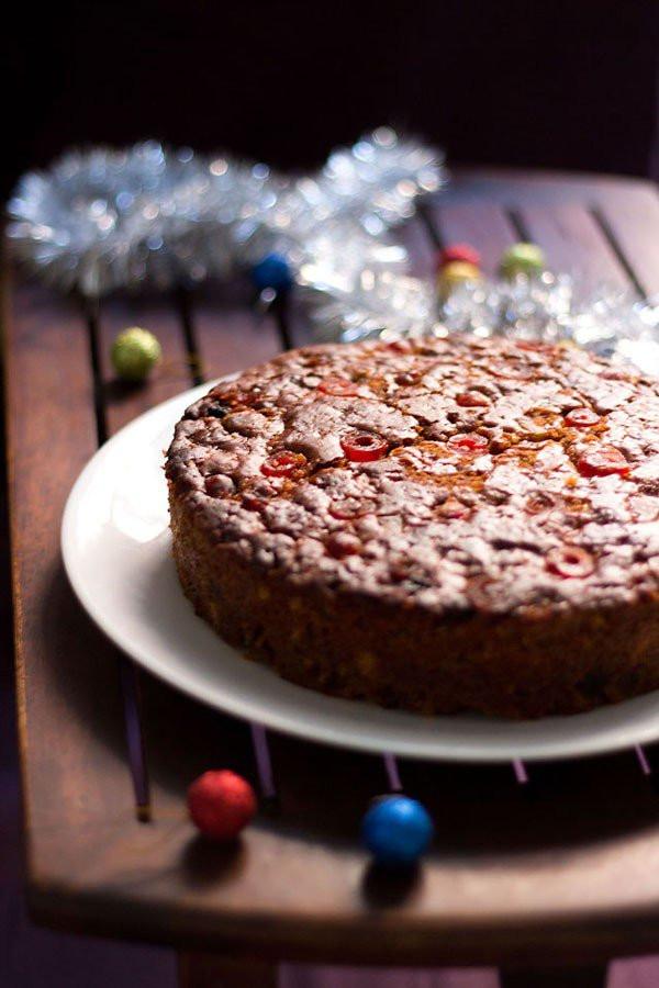 Recipes For Christmas Cakes  eggless christmas fruit cake recipe vegan eggless