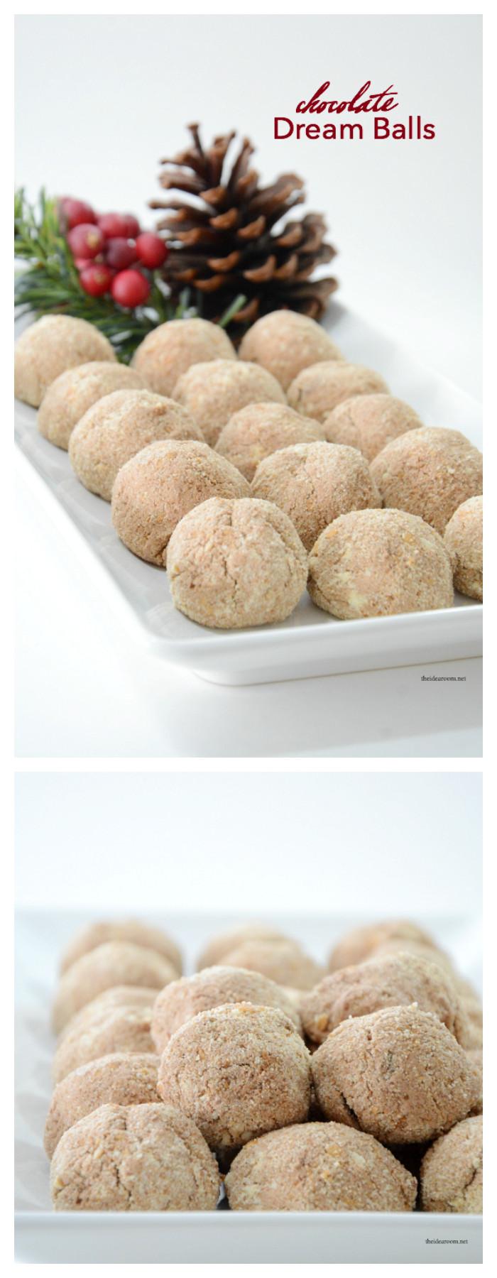 Recipes For Christmas Candy  Chocolate Dream Balls The Idea Room