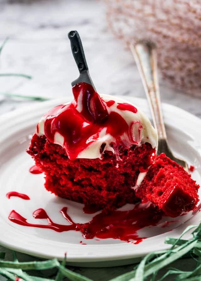 Red Velvet Halloween Cake  Halloween Red Velvet Cupcakes Jo Cooks