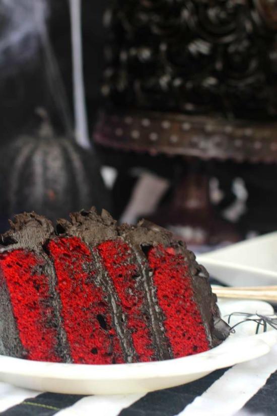 Red Velvet Halloween Cake  Red Velvet Halloween Cake The Seaside Baker