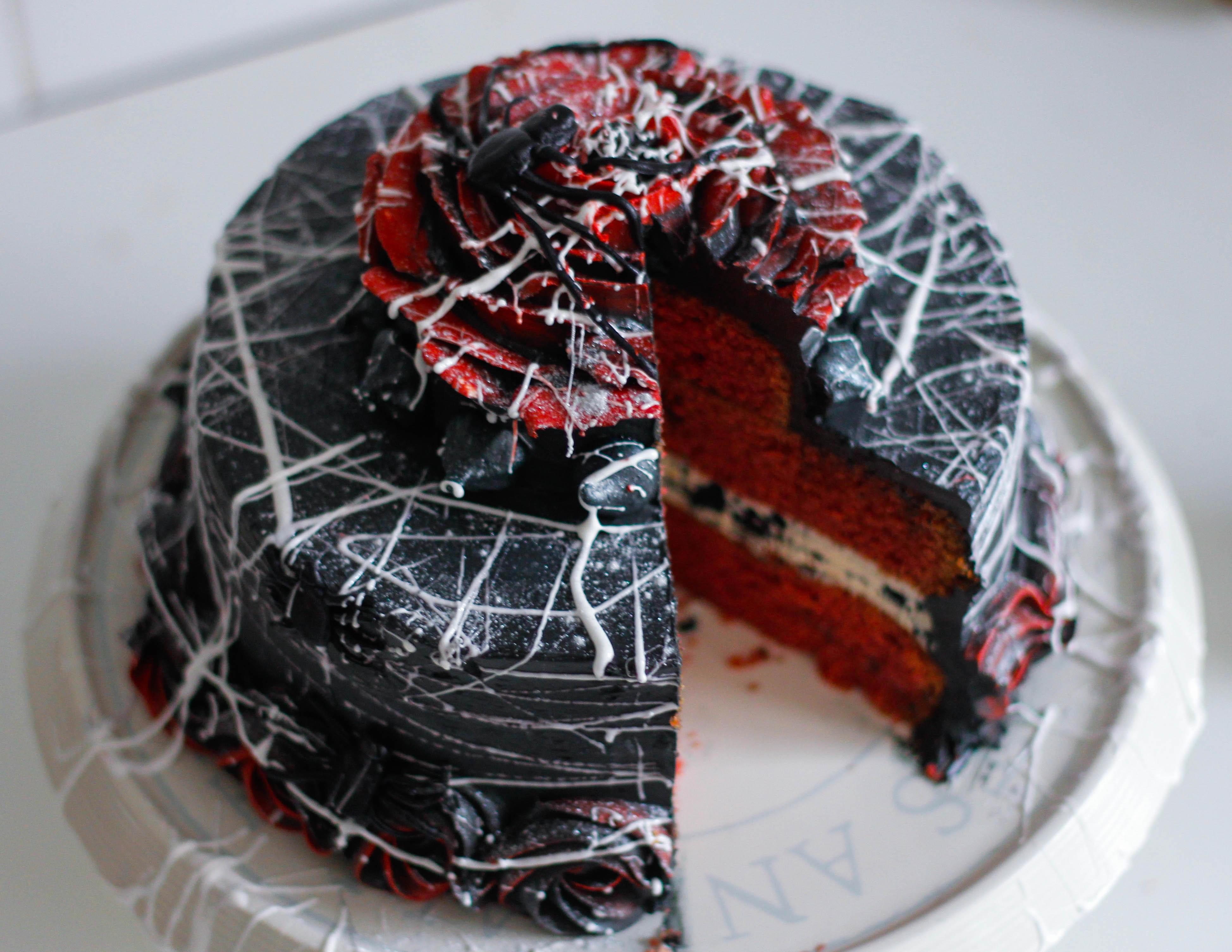 Red Velvet Halloween Cake  Halloween Red Velvet Cake – Briana s Kitchen