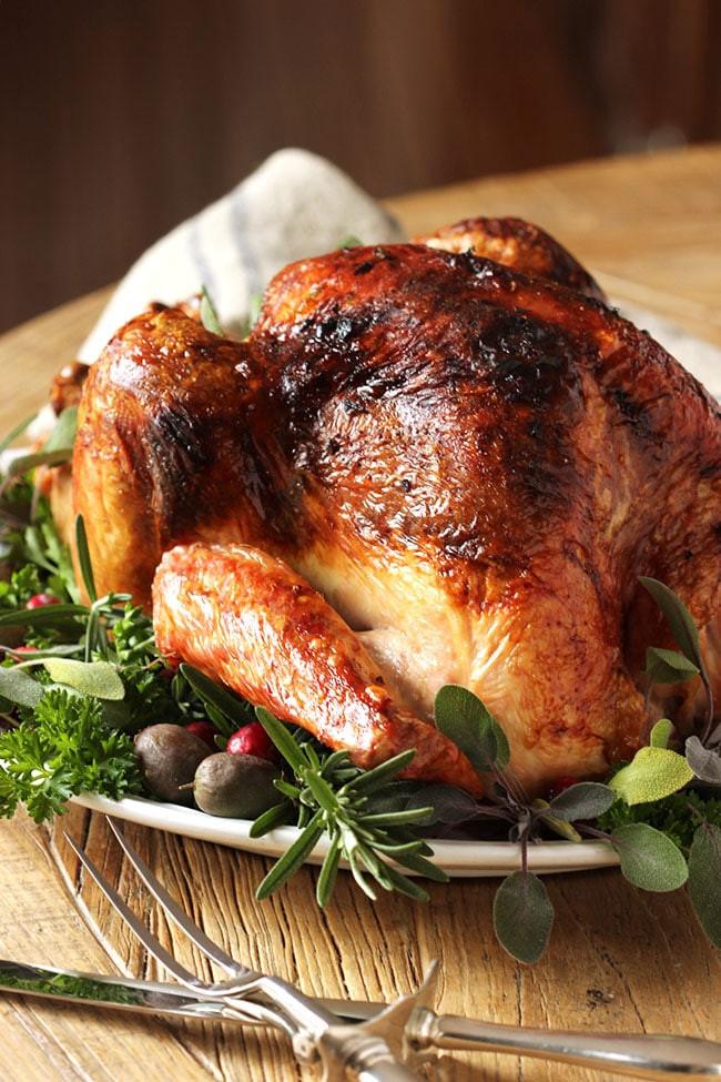 Roast Turkey Recipes Thanksgiving  Citrus and Herb Butter Roast Turkey Recipe The Suburban