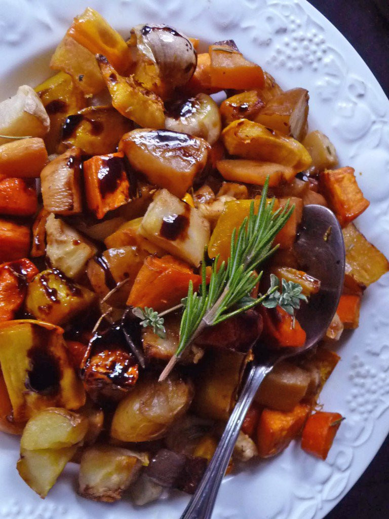 Roasted Fall Root Vegetables  Balsamic Glazed Roasted Root Ve ables Pots and Pans