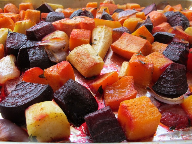 Roasted Fall Root Vegetables  Oven Roasted Root Ve ables Colorful Seasonal
