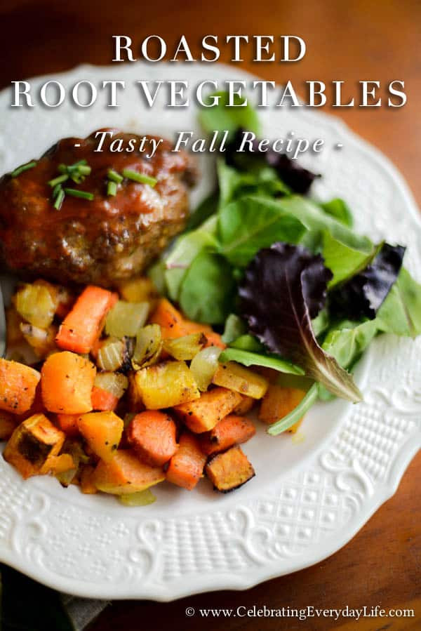 Roasted Fall Root Vegetables  Roasted Root Ve ables Fall Recipe Celebrating