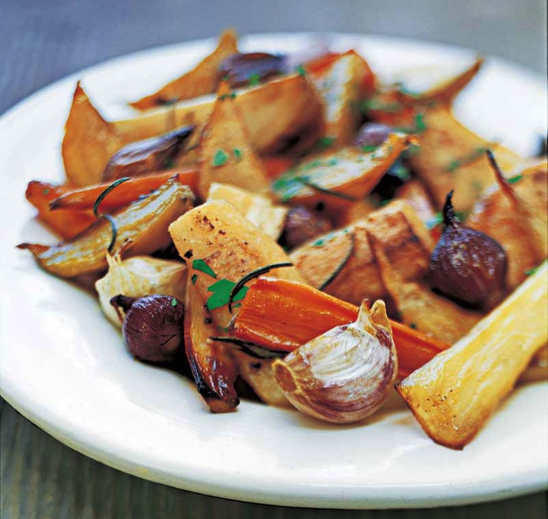 Roasted Fall Root Vegetables  Savory Oven Roasted Root Ve ables Recipe