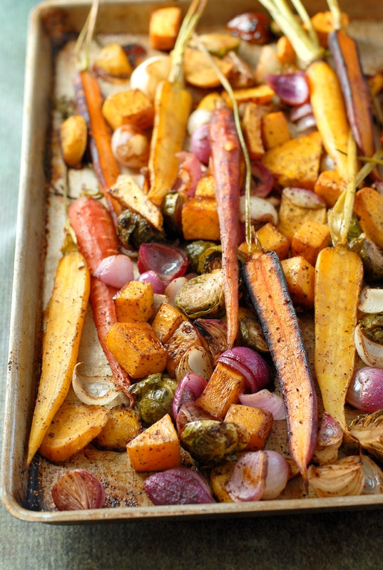 Roasted Fall Vegetables  Balsamic Roasted Fall Ve ables with Sumac