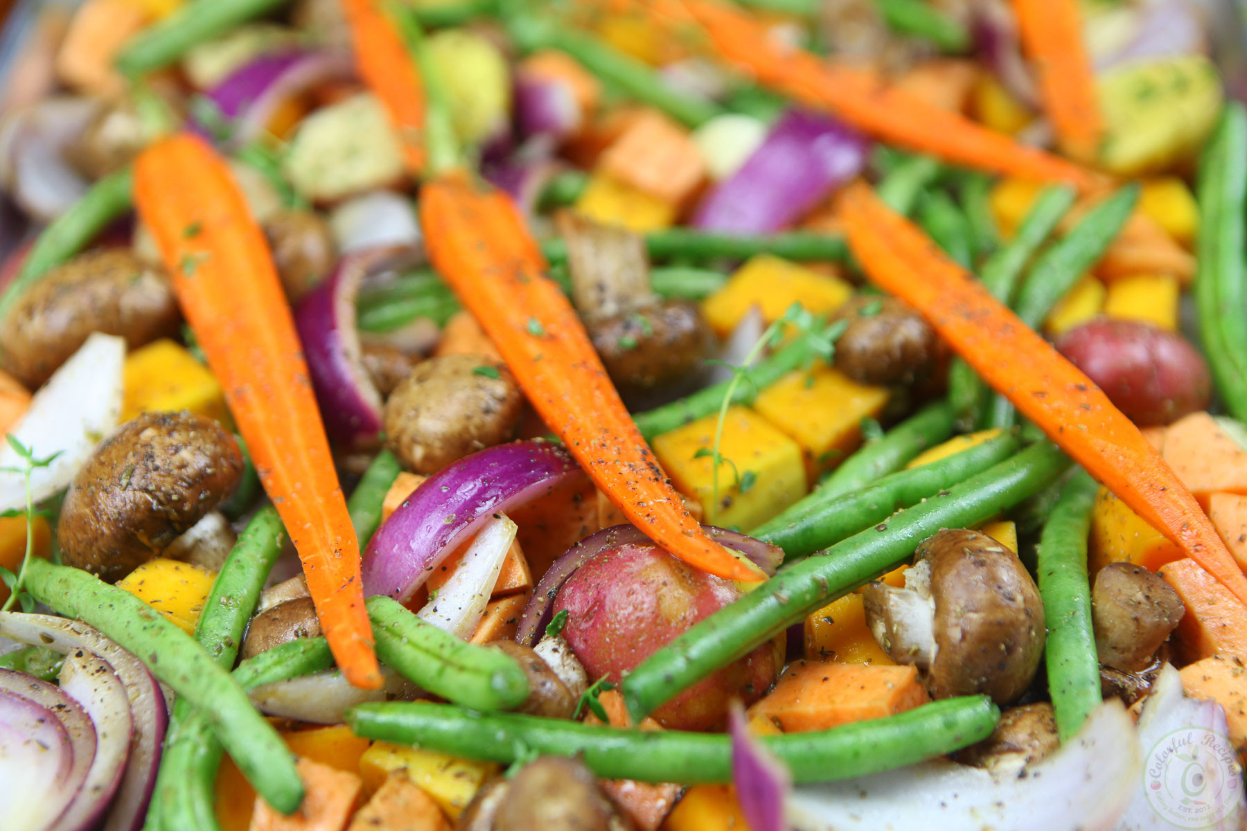 Roasted Fall Vegetables  Roasted Fall Ve ables Colorful Recipes