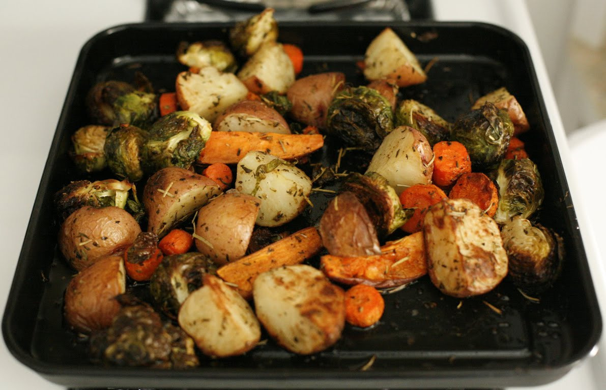 Roasted Fall Vegetables  go vegan meow Roasted Fall Ve ables and Cornbread Stuffing