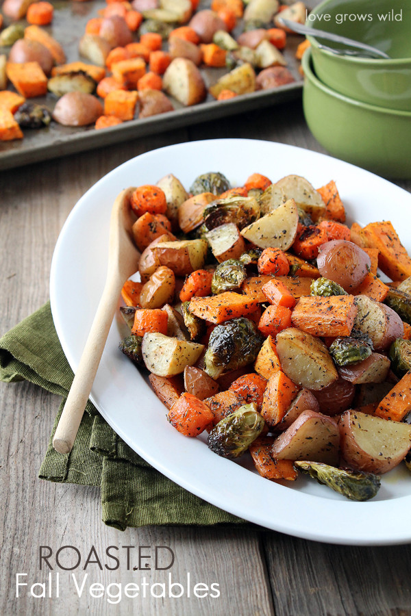 Roasted Fall Vegetables  Slow Cooker Butter and Herb Turkey Breast Love Grows Wild