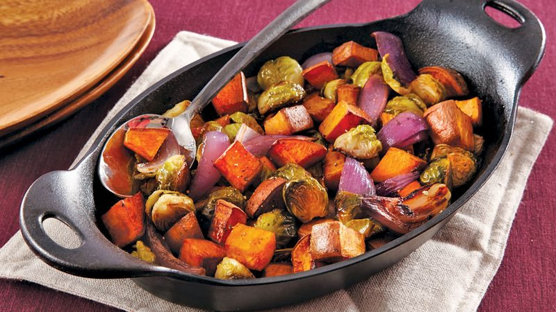 Roasted Fall Vegetables  Roasted Fall Ve ables recipe from Betty Crocker