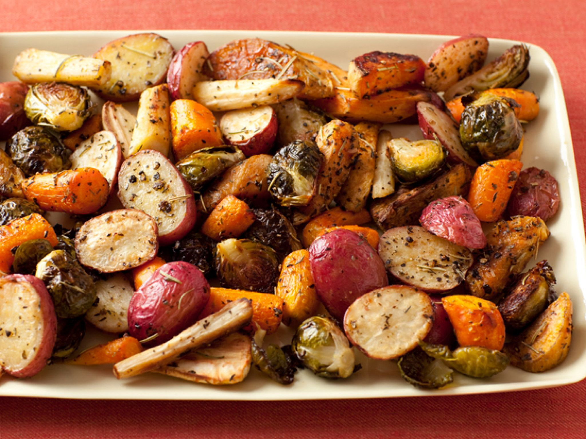 Roasted Vegetables For Thanksgiving  100 Classic Thanksgiving Side Dish Recipes Food Network