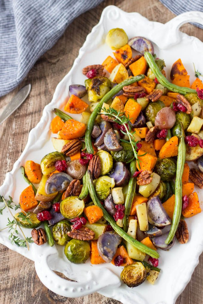 Roasted Vegetables For Thanksgiving  Super Easy Roasted Winter Ve ables Simple Healthy Kitchen