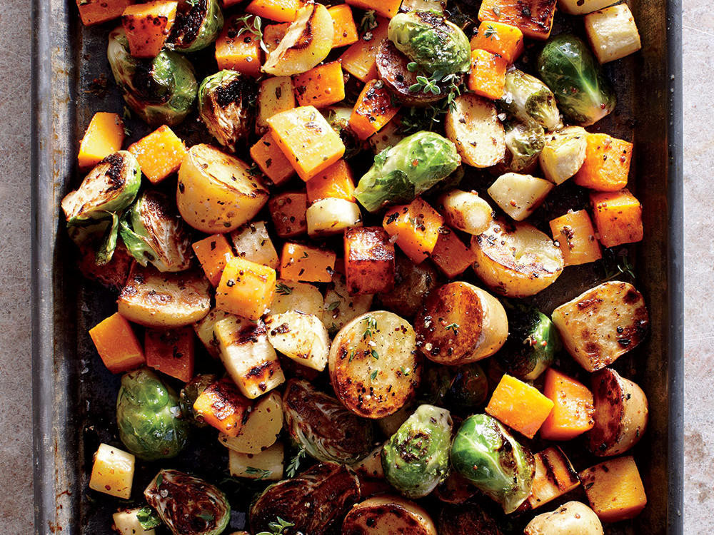 Roasted Vegetables For Thanksgiving  Healthy Holiday Recipes and Menus Cooking Light