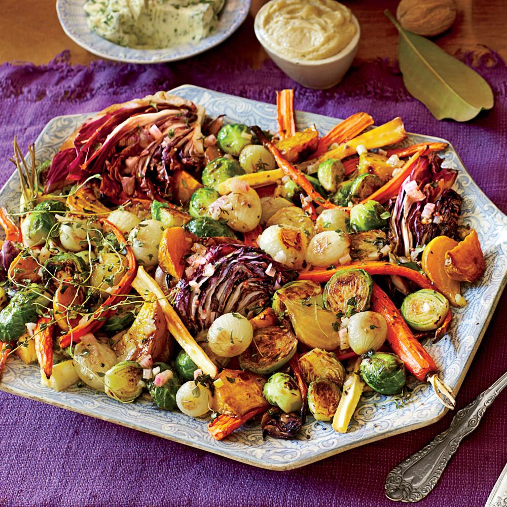 Roasted Vegetables For Thanksgiving  Roasted Ve able Salad & Apple Cider Vinaigrette Recipe