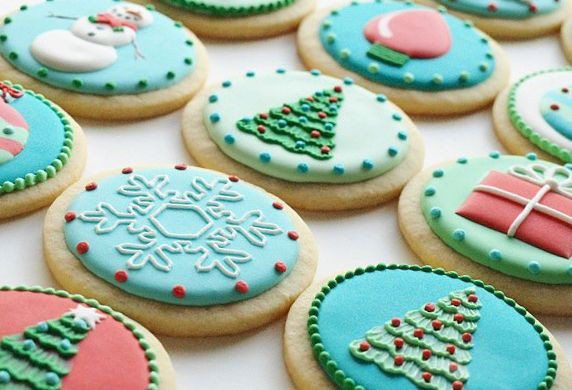 Round Christmas Cookies  20 best Round Christmas Cookies images on Pinterest
