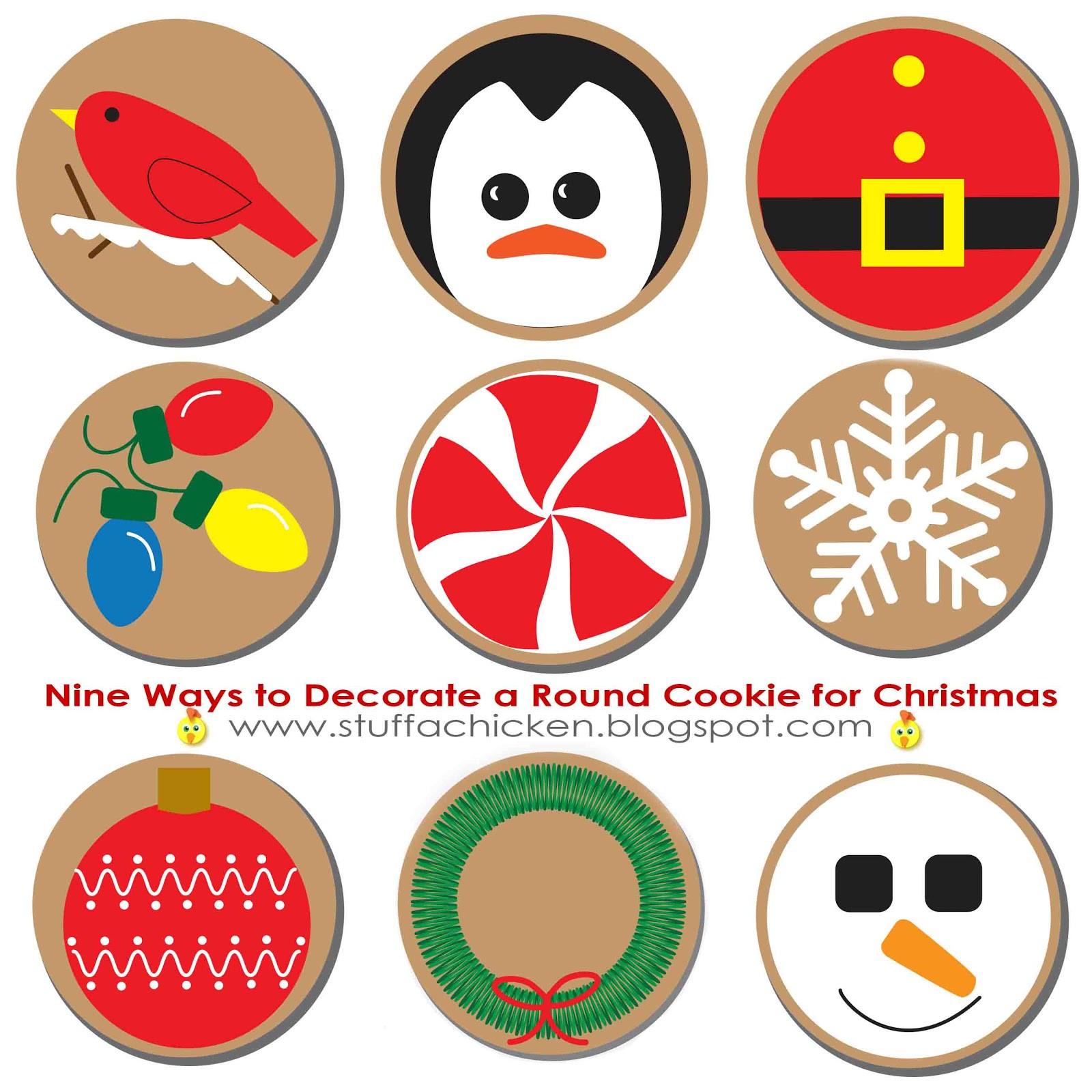 Round Christmas Cookies  Gonna Stuff a Chicken Nine Ways to Decorate a Round