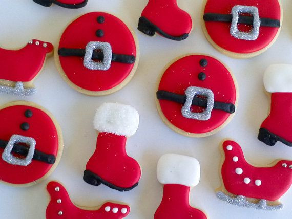 Round Christmas Cookies  1000 images about round cookies decorated on Pinterest