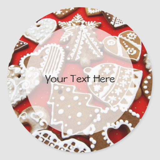 Round Christmas Cookies  Christmas Cookies Label Round Sticker