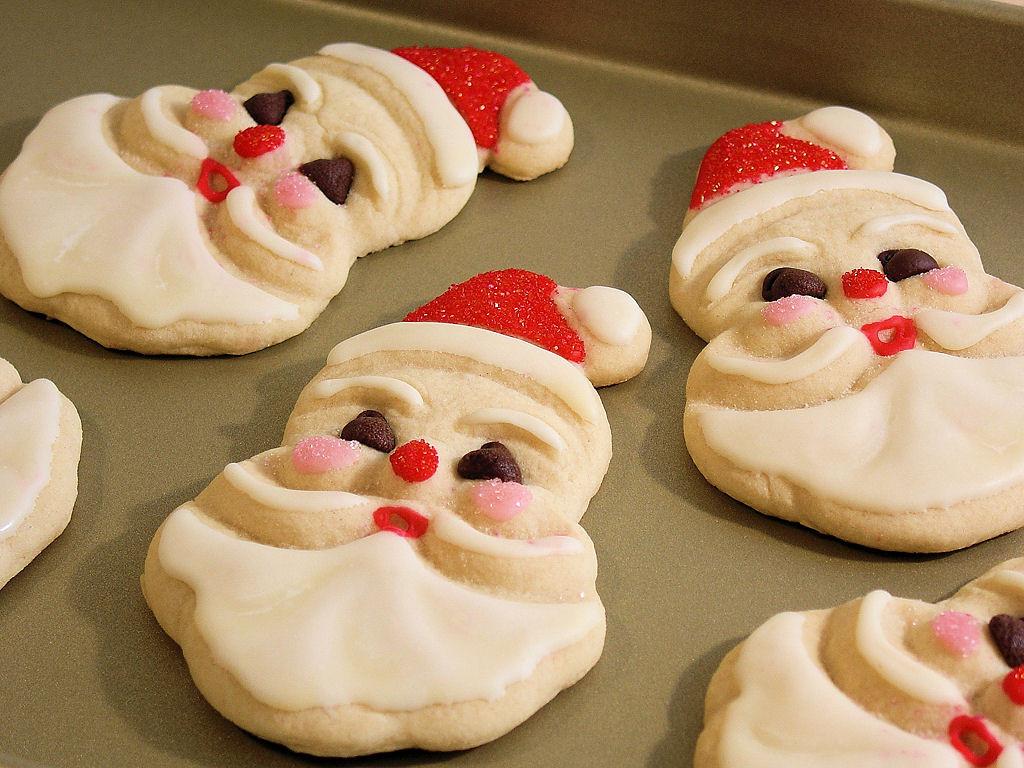 Santa Christmas Cookies  Old Fashioned Jolly Santa Sugar & Spice Cookies Wicked