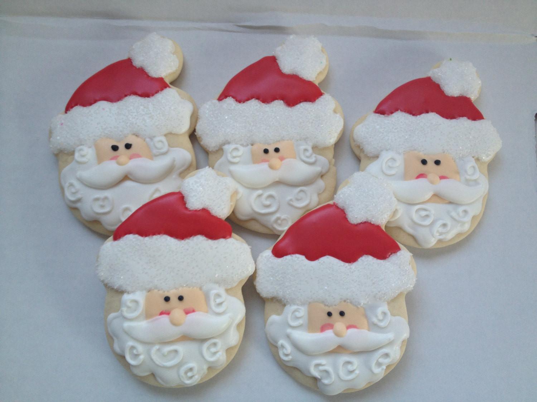 Santa Christmas Cookies  Santa Christmas Cookies holiday cookies santa cookie Santa