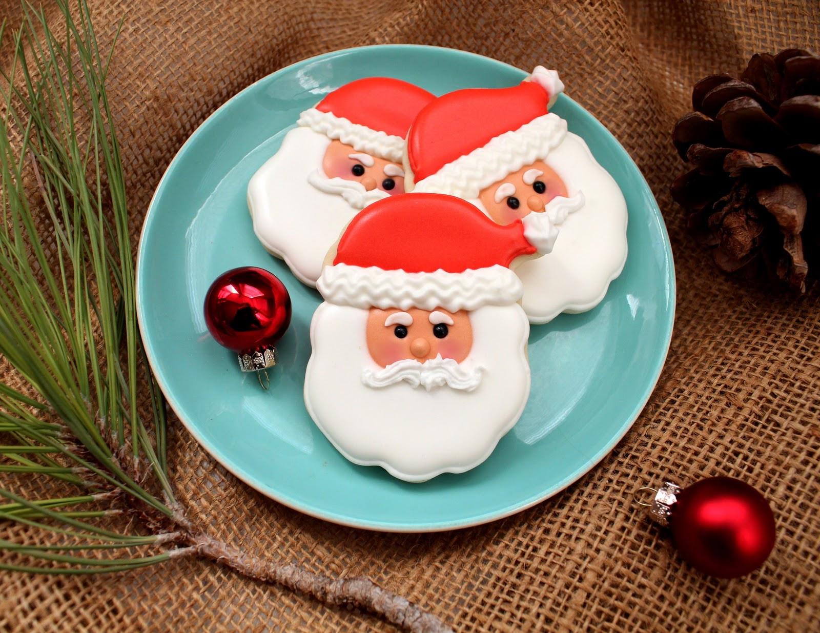 Santa Christmas Cookies  Santa Face Cookies Recipe and Tutorial
