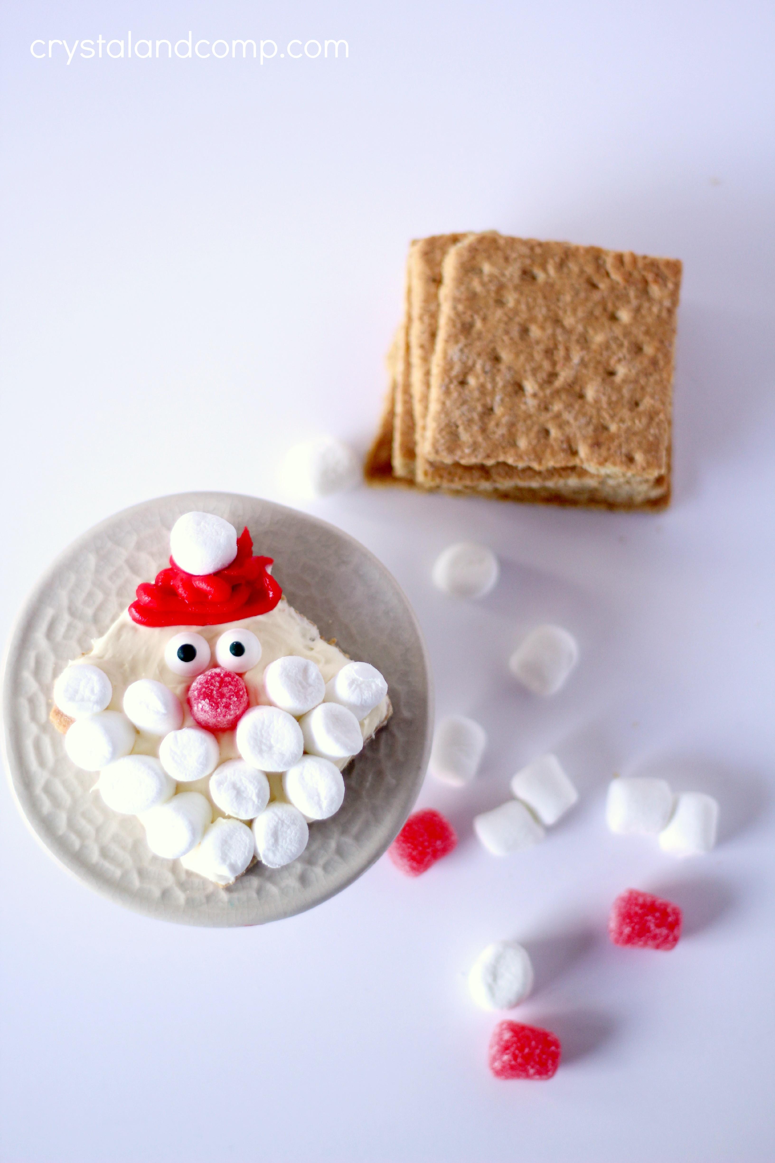Santa Christmas Cookies  No Bake Christmas Cookies