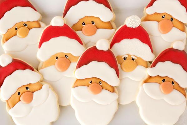 Santa Christmas Cookies  Santa Cookies with my New Favorite Cutter