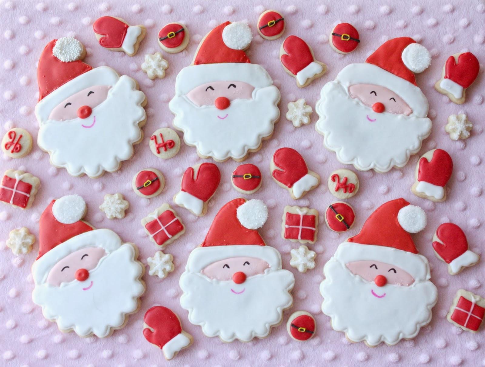 Santa Christmas Cookies  Munchkin Munchies Smiling Santa Cookies