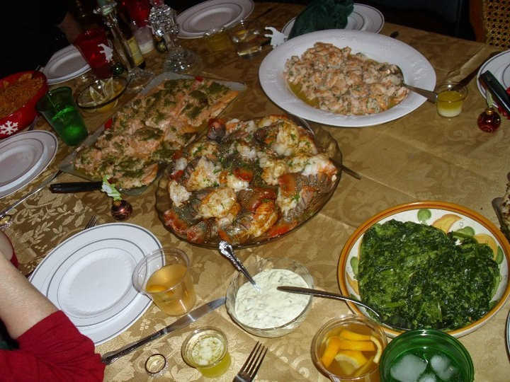 Seafood Christmas Dinner  Christmas eve Italian seafood dinner Sea food