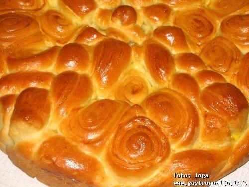 Serbian Christmas Bread  Cesnica ili Bozicna pogaca Traditional Serbian Christmas